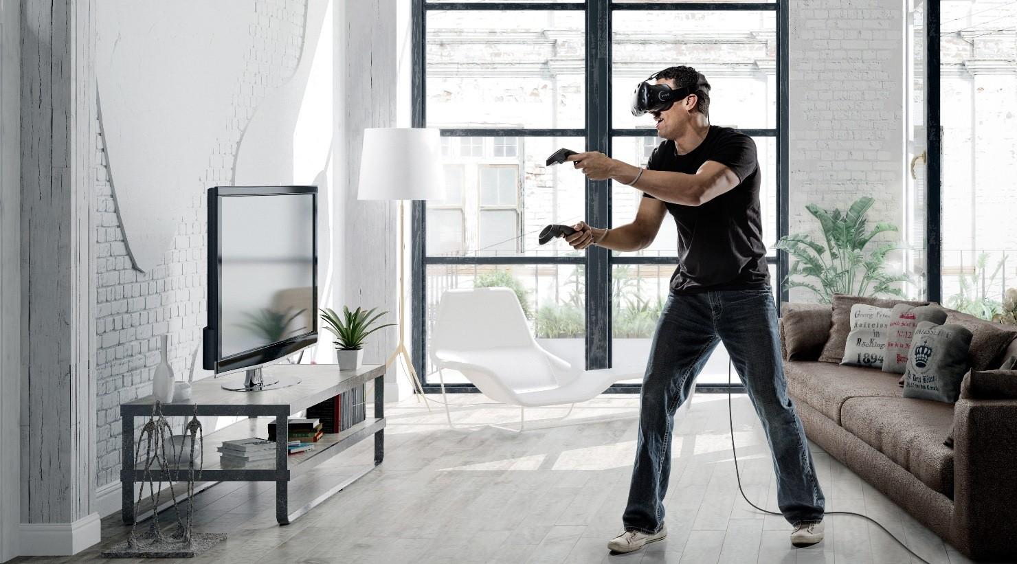 Fotografia di un soggetto che prova la realtà virtuale