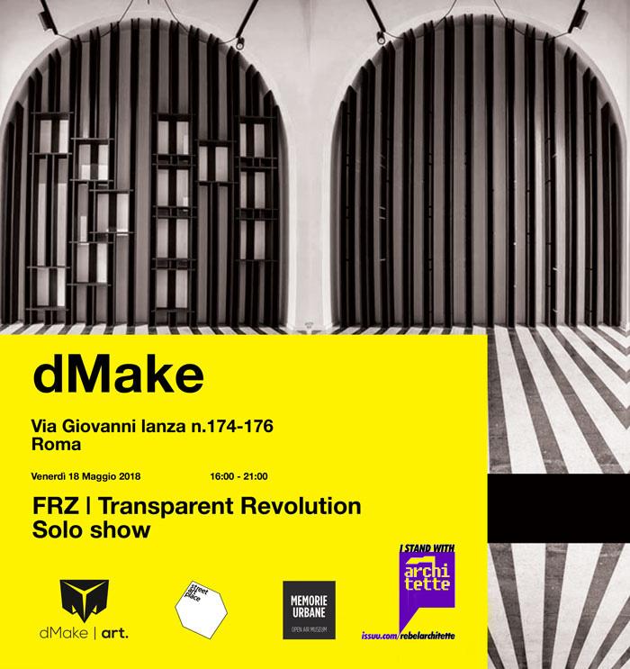 Fotografia della galleria espositiva all'interno dello studio interdisciplinare dMake.