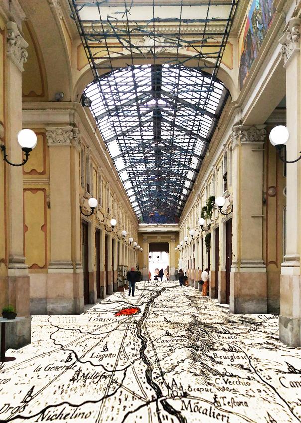 Fotografia della Galleria Umberto I, Torino