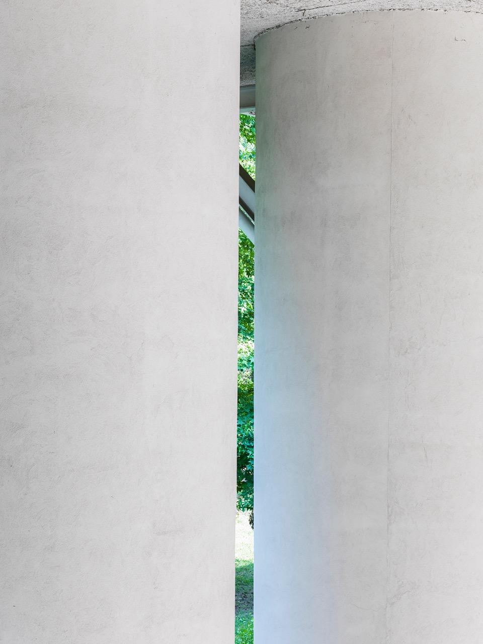 fotografia dell'edificio al Gallaratese di Aldo Rossi