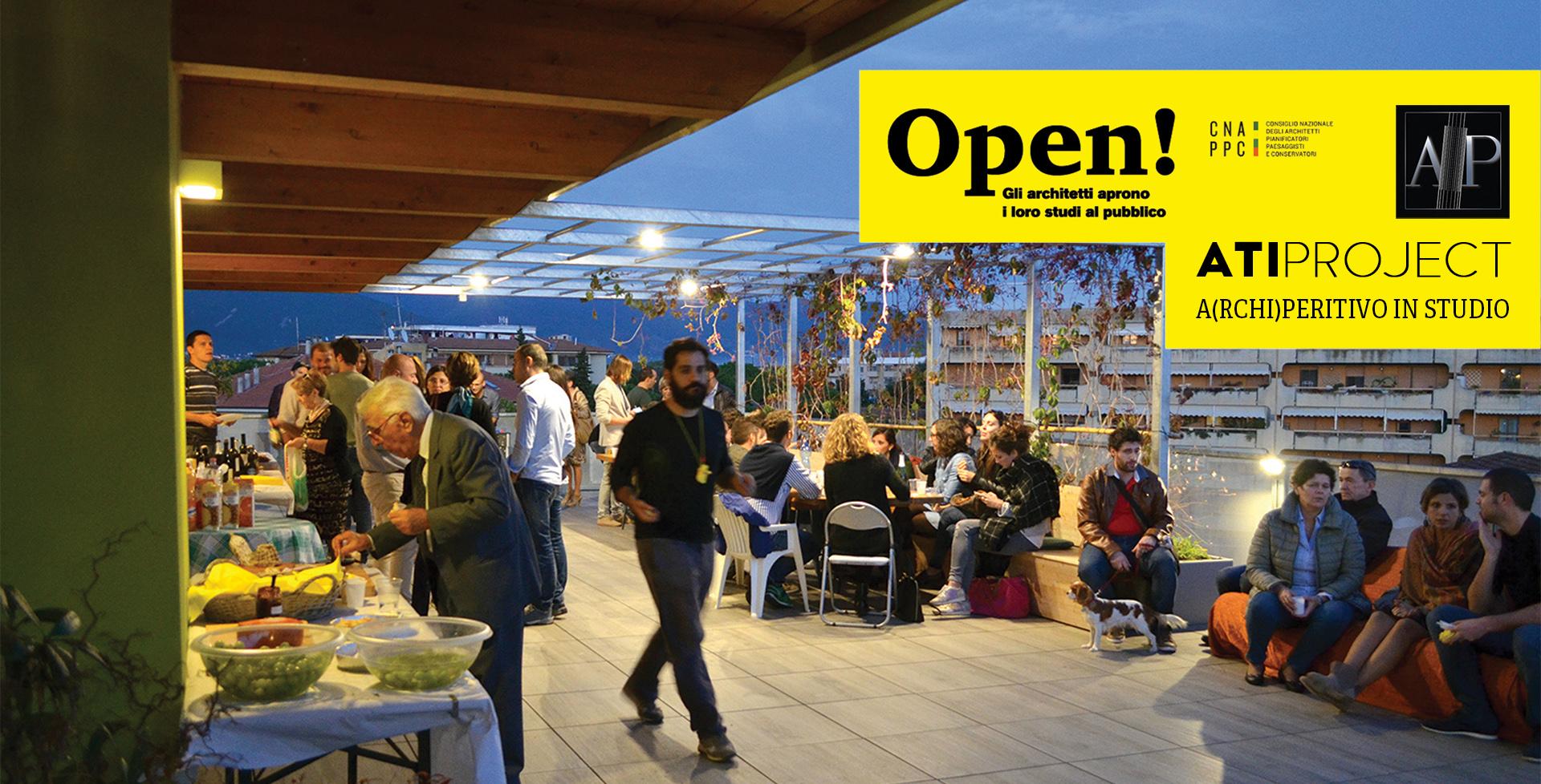 open studio aperitivo all'aperto