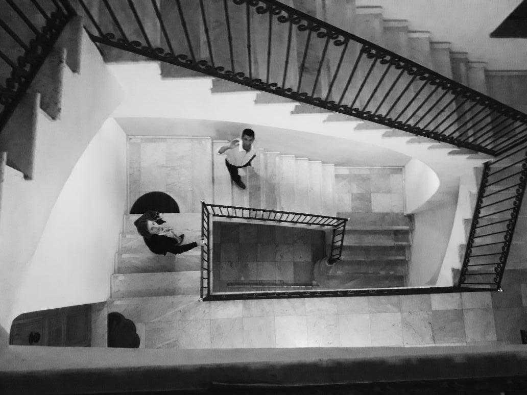 Le scale di Palazzo Tolu