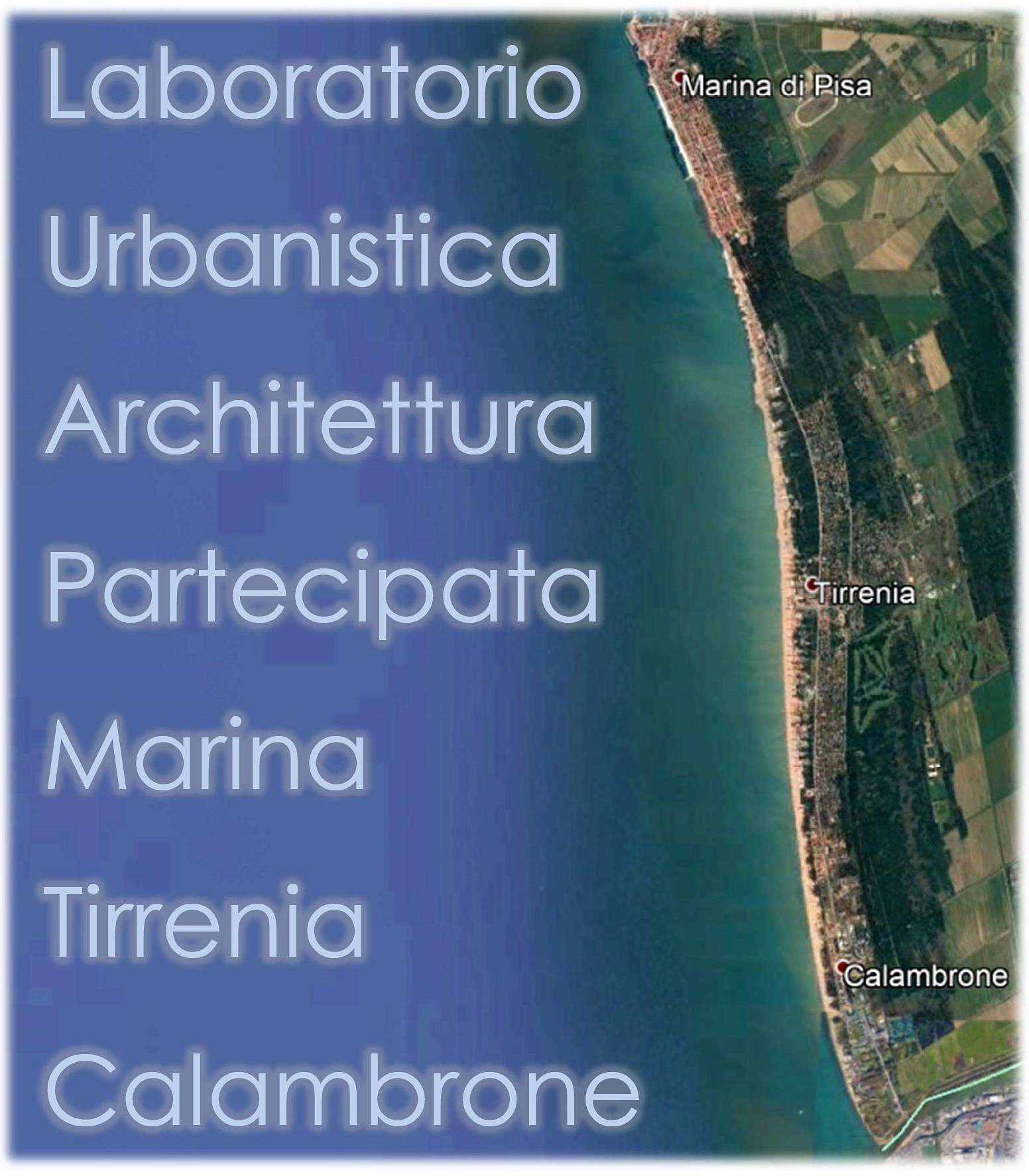 Locandina Laboratorio di Urbanistica Architettura Partecipata Marina Tirrenia Calambrone