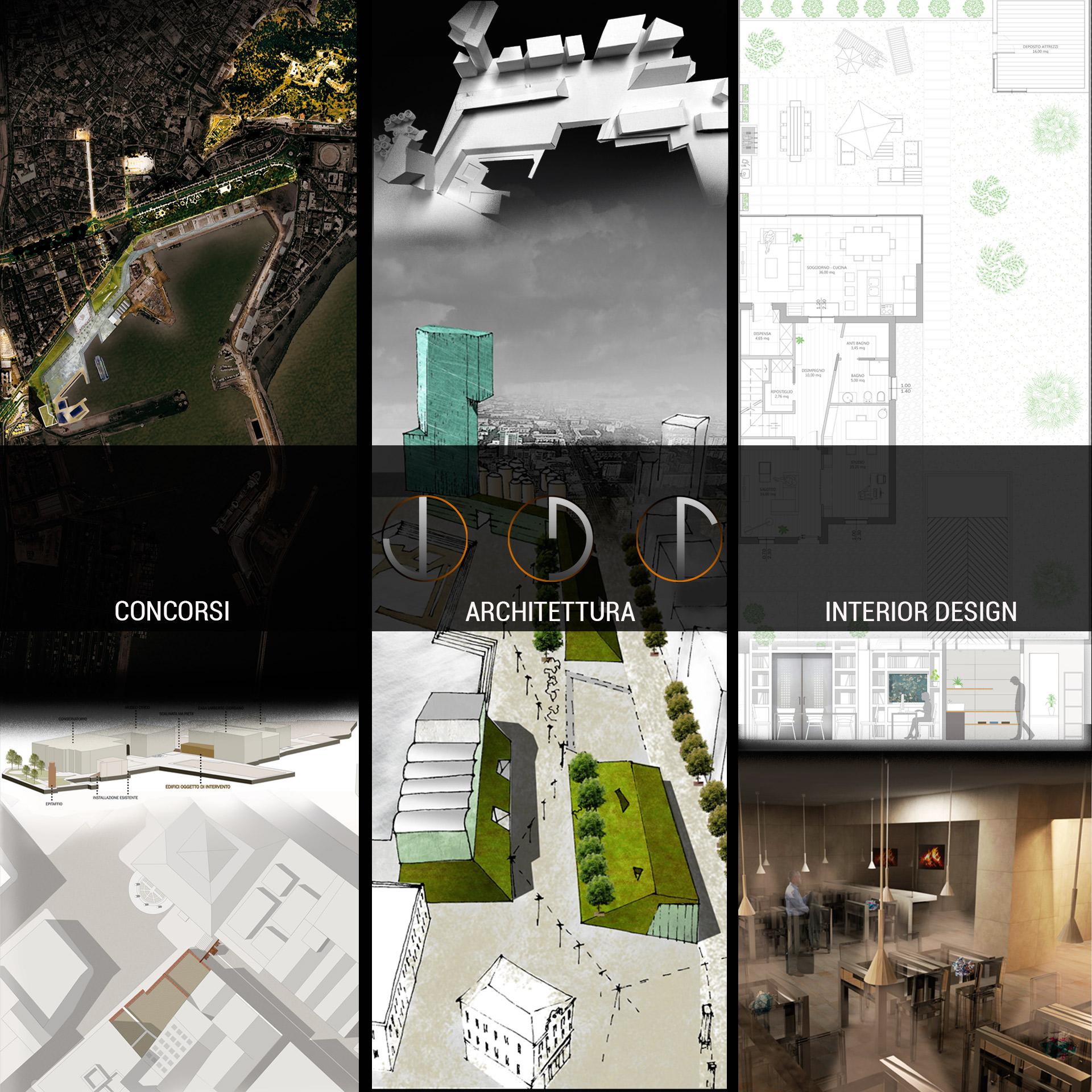 CONCORSI - ARCHITETTURA - INTERIOR DESIGN. Progetti e render.