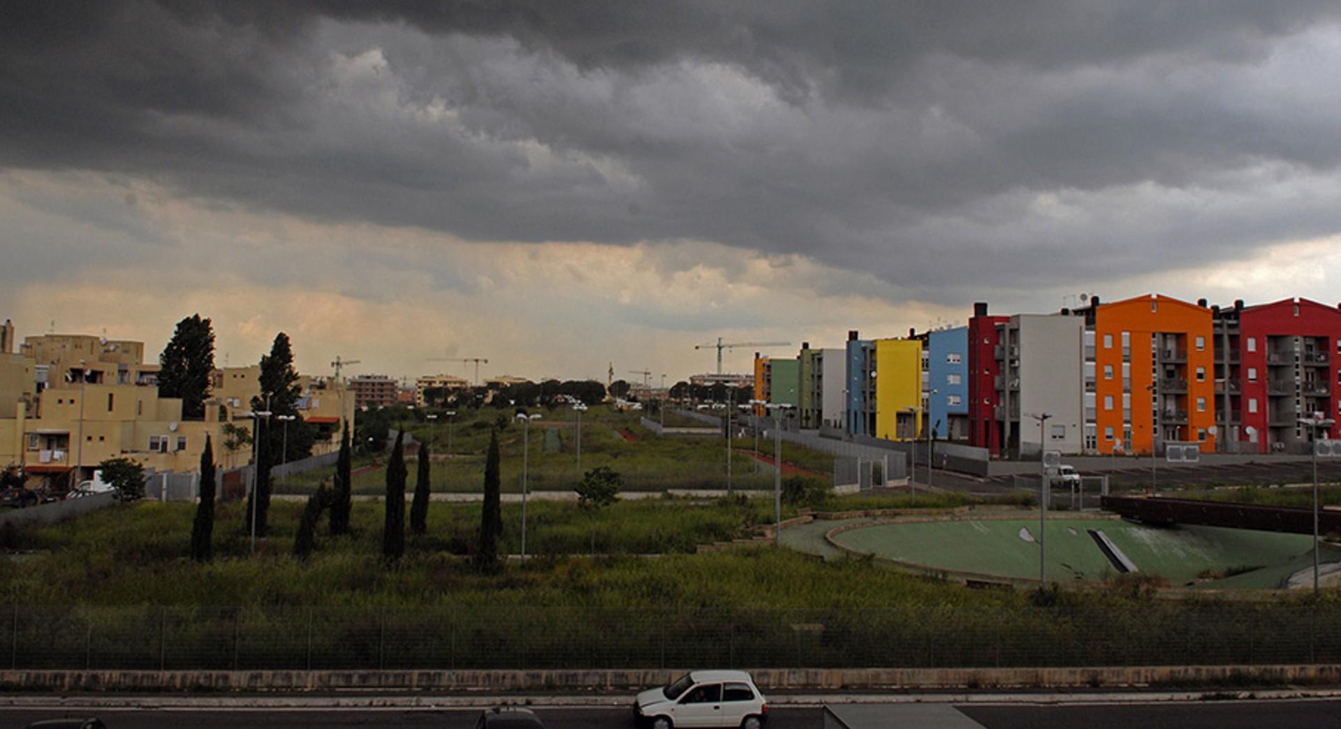 immagine della periferia di Roma.