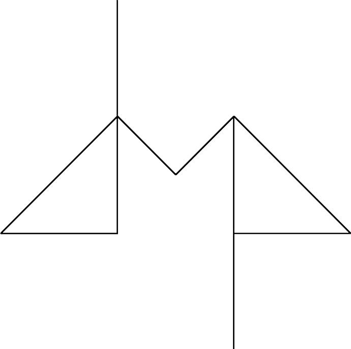 Logo dello studio di architettura linee sottili disegnano le iniziali del nome