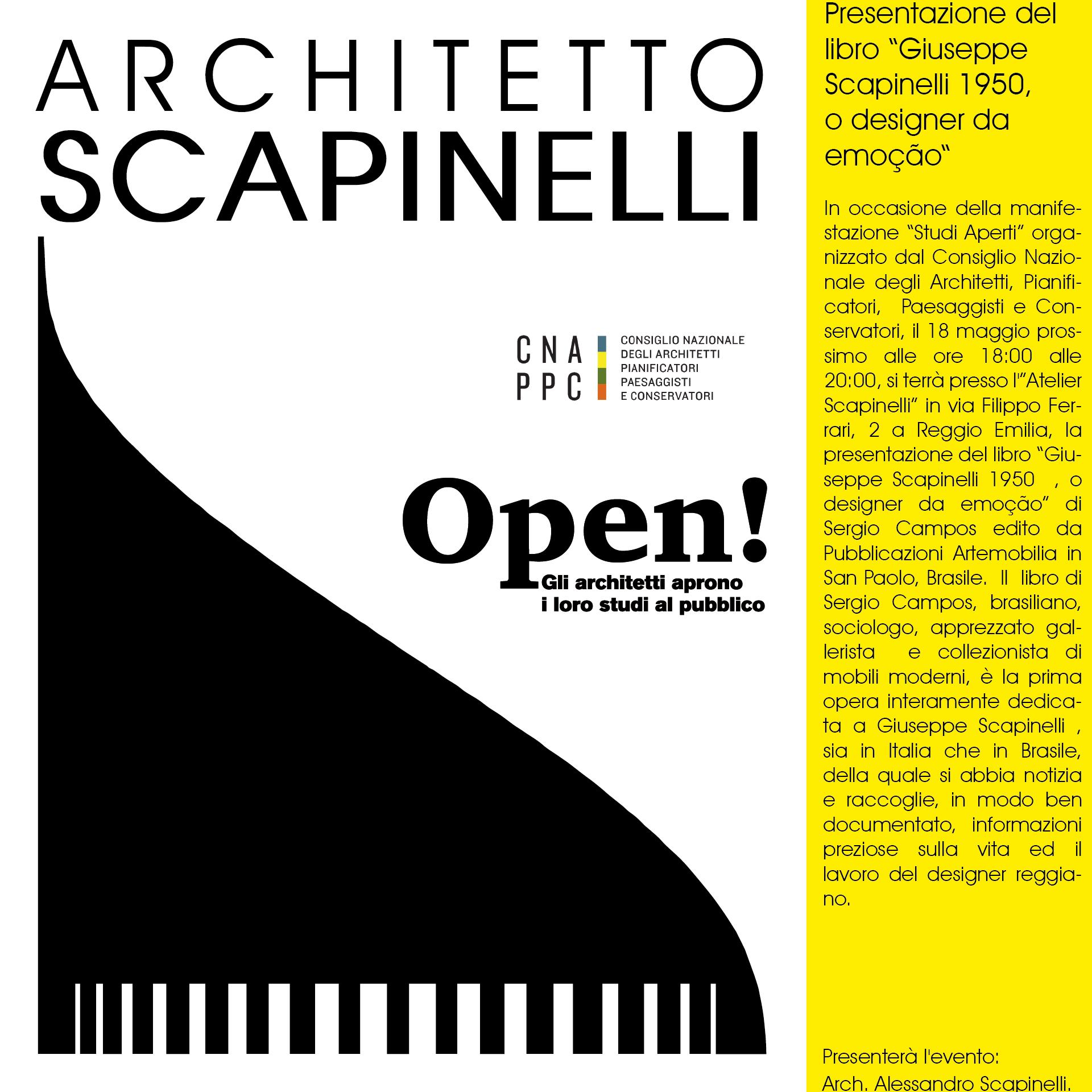 """Copertina del  libro """"Giuseppe Scapinelli 1950  , o designer da emoção"""""""