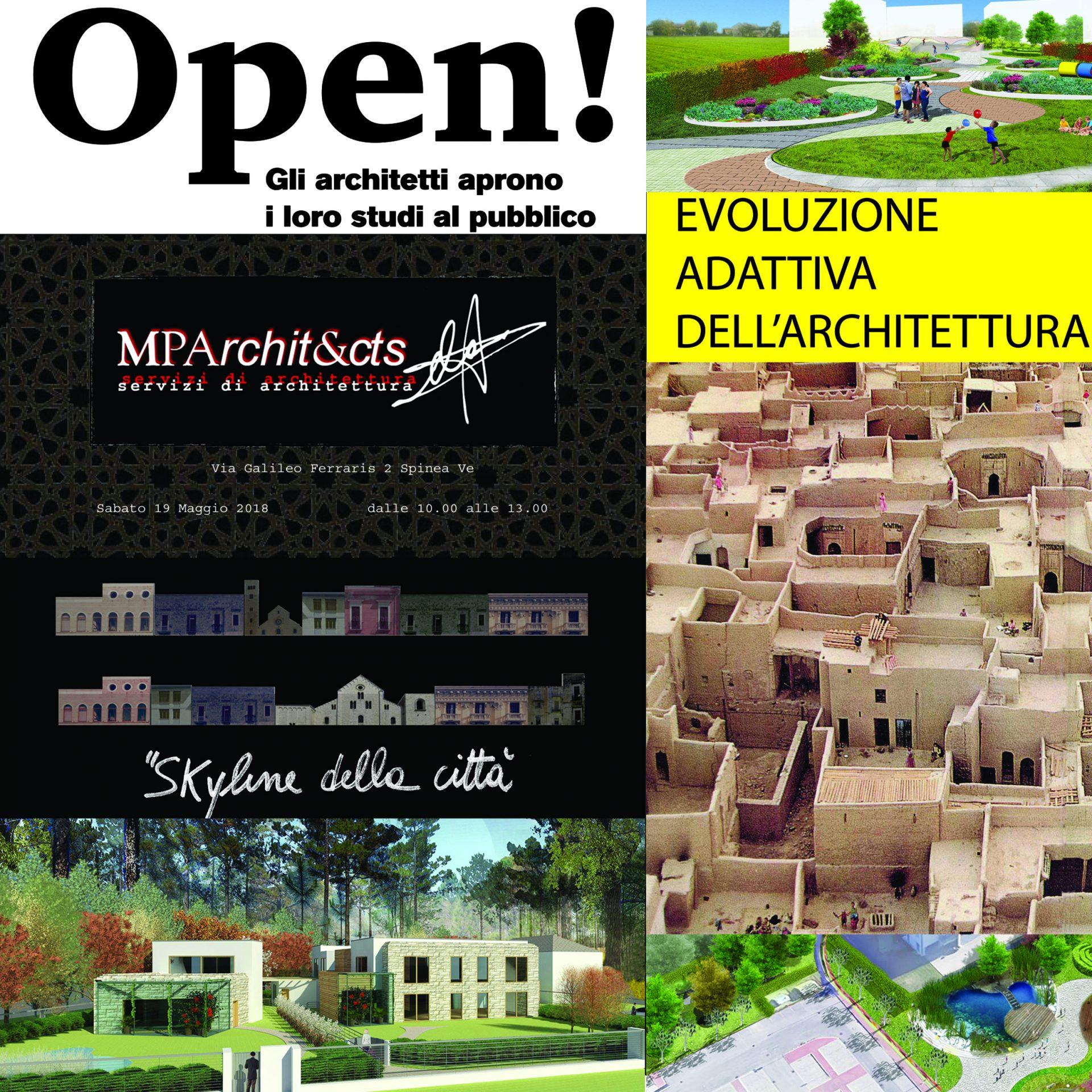 Composizione di progetti realizzati con varie tecniche grafiche