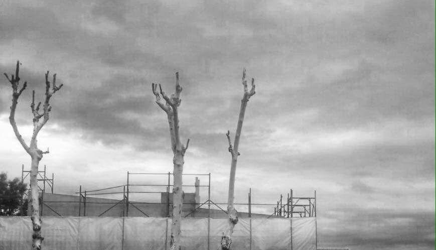 Fotografia di un cantiere