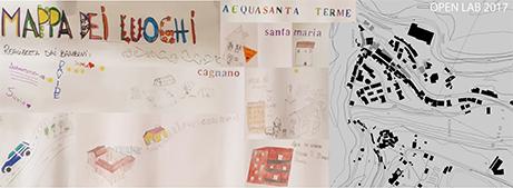 La mappa di Acquasanta Terme reale e vista dai bambini che anno partecipato all'Open Lab 2