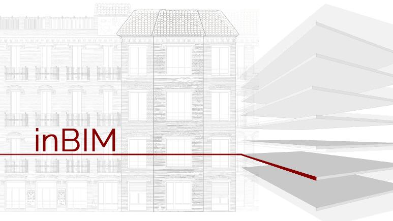 Disegno prospetto architettonico e titolo evento