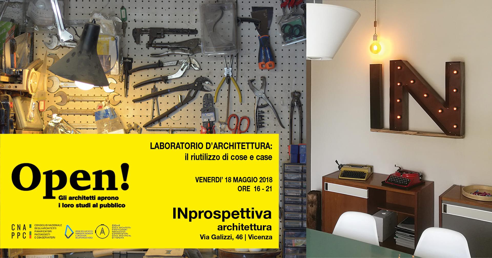 Fotografia dello studio di architettura di INprospettiva e del Laboratorio