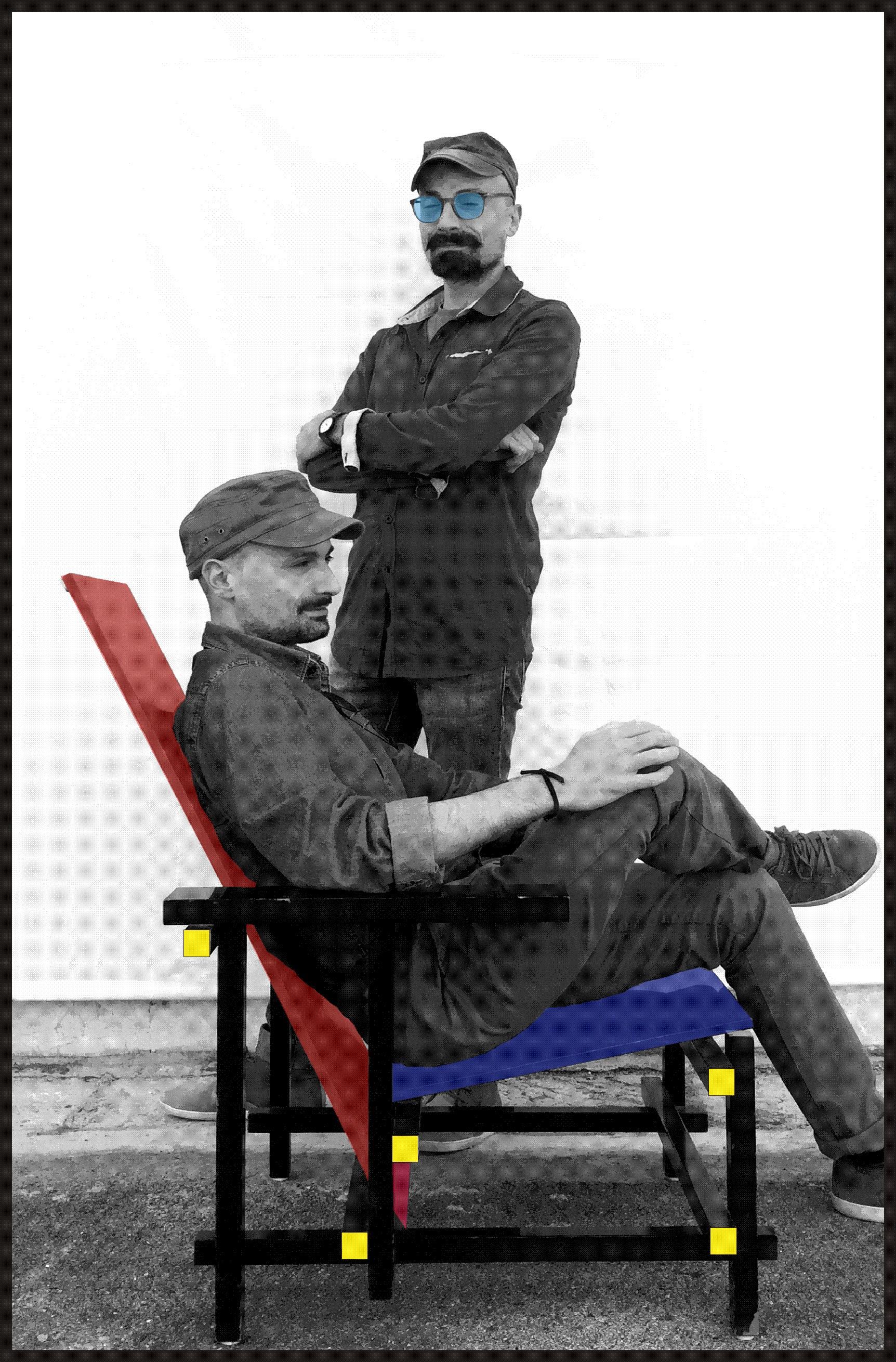 La fotografia ritrae i 2 architetti dello studio DeArchis 722