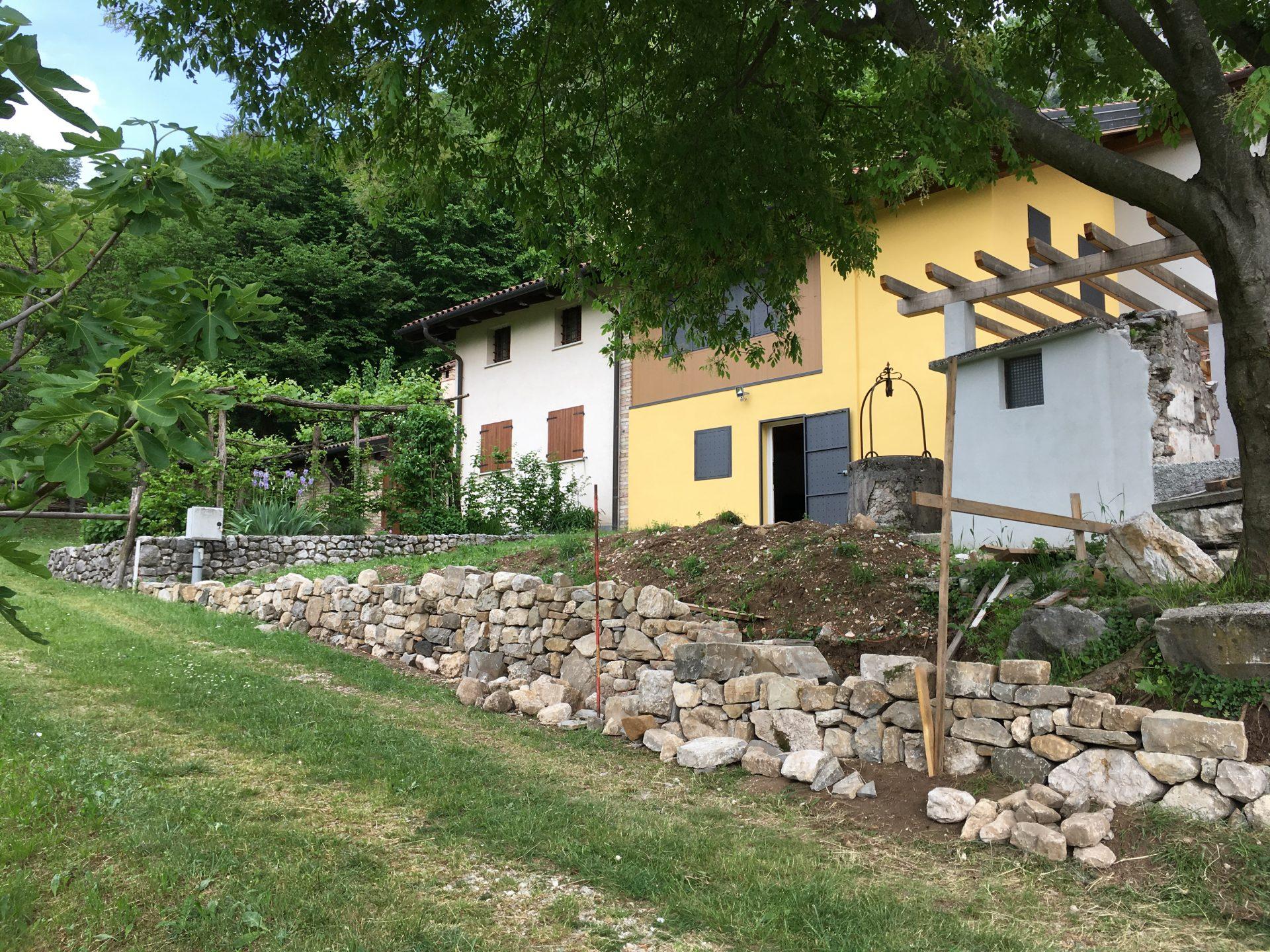 La sede del workshop di antropizzazione del paesaggio con i muri a secco.