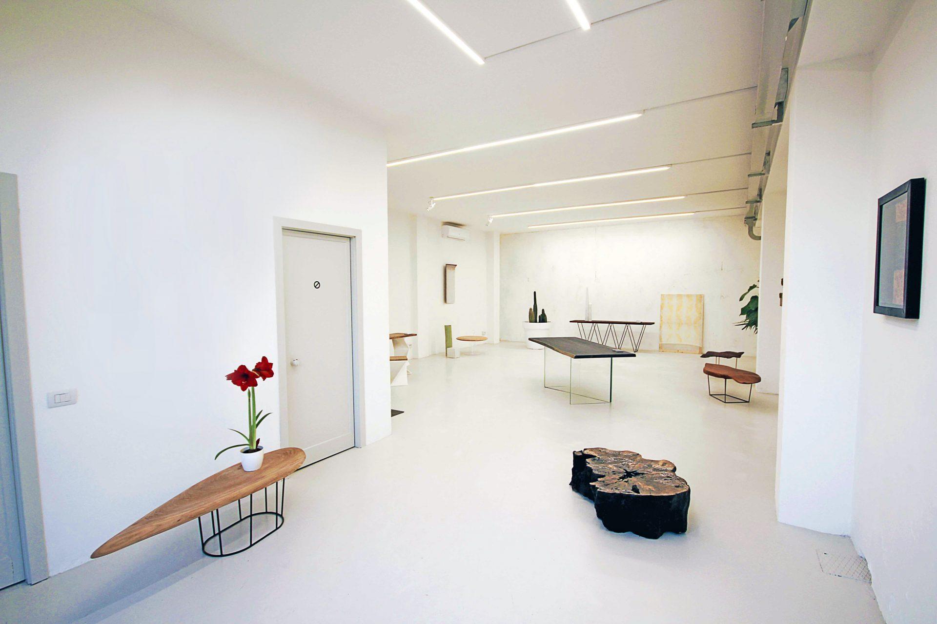 Particolare dello showroom di Studio Apeiron