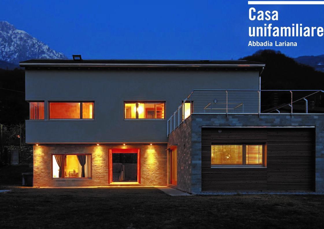 Lago di Como - progetto di una residenza unifamiliare .