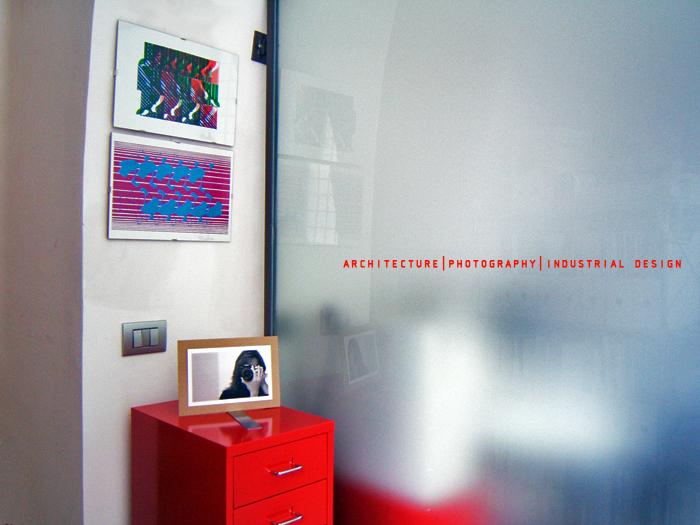 Fotografia della vetrata del mio studio di architettura