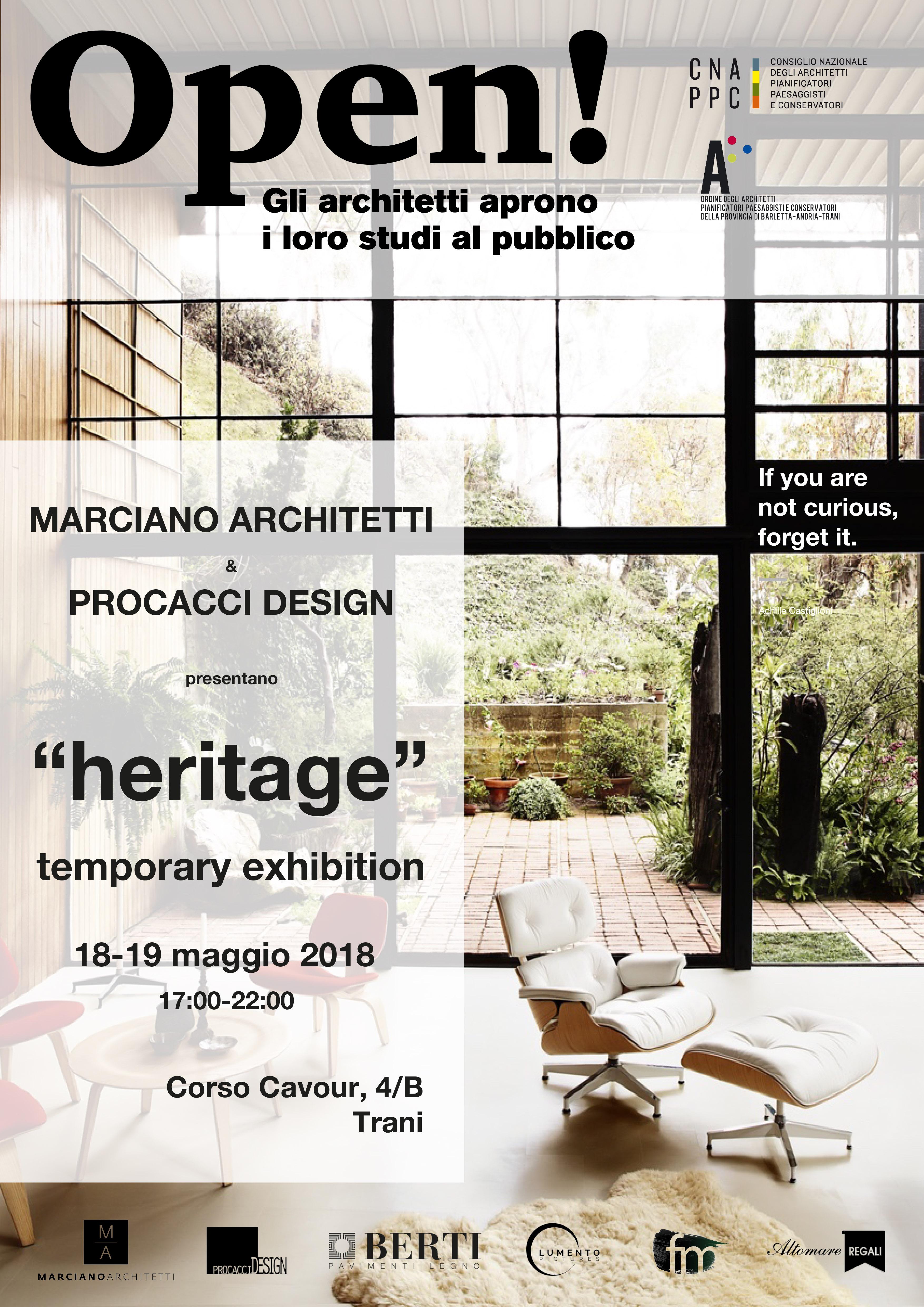 Studio di Architettura Marciano a sx e icona di design a dx
