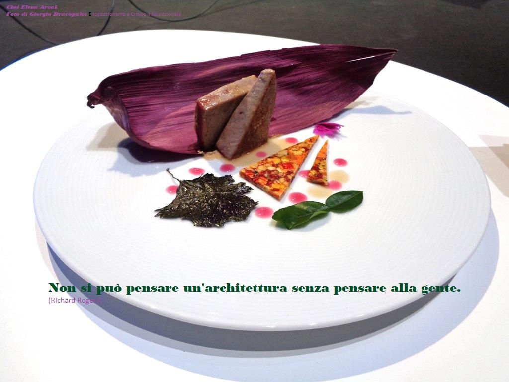 Architettura e Cibo, Piatto della Chef Elena Arzak foto di G. Dracopulos Enogastromo