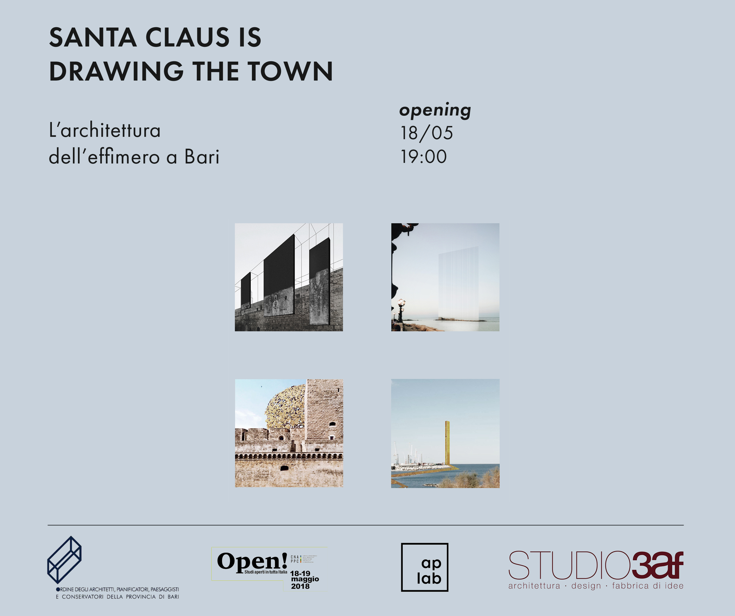 """Santa Claus is drawing the town""-Mostra di collage digitali"