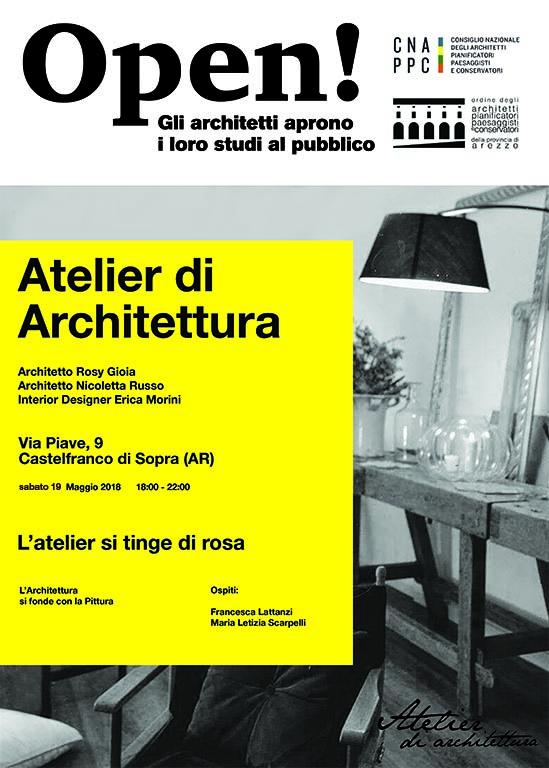 Fotografia del primo ambiente dell'Atelier di Architettura