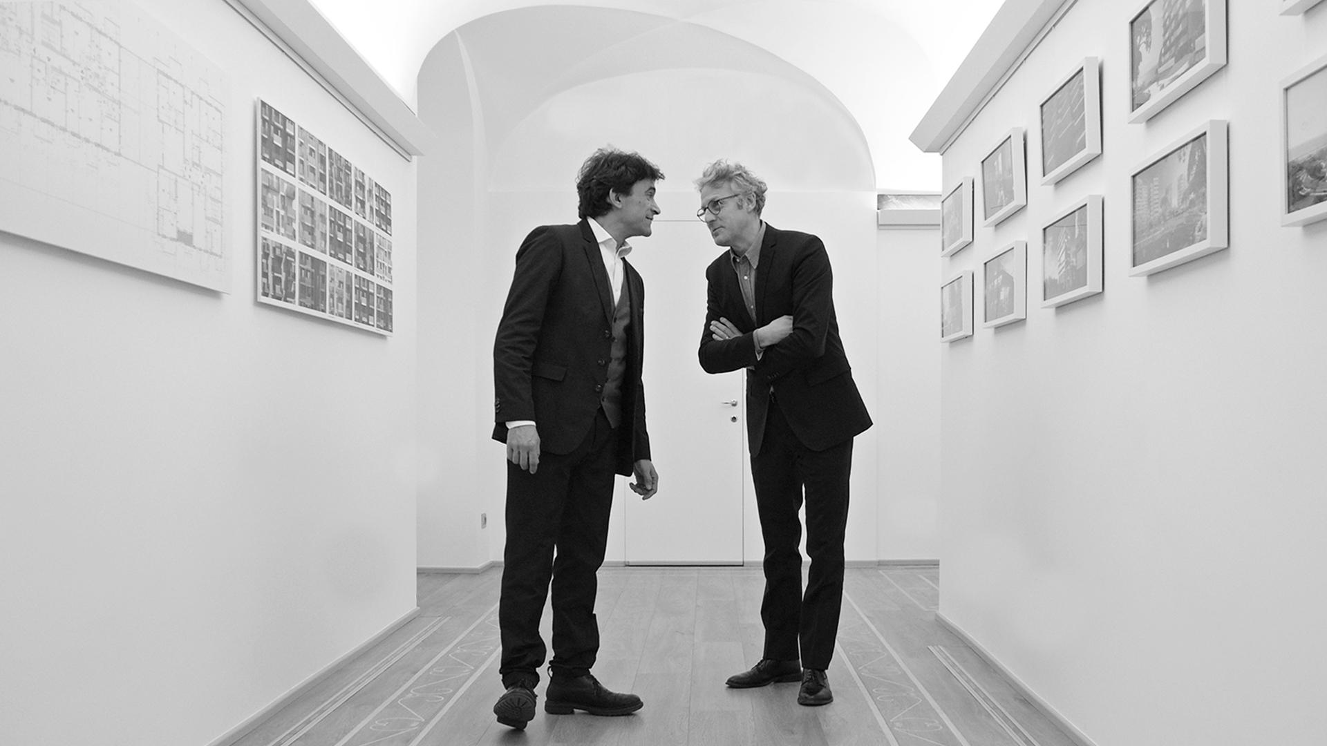 Fotografia degli architetti Giovanni La Varra e Gianandrea Barreca