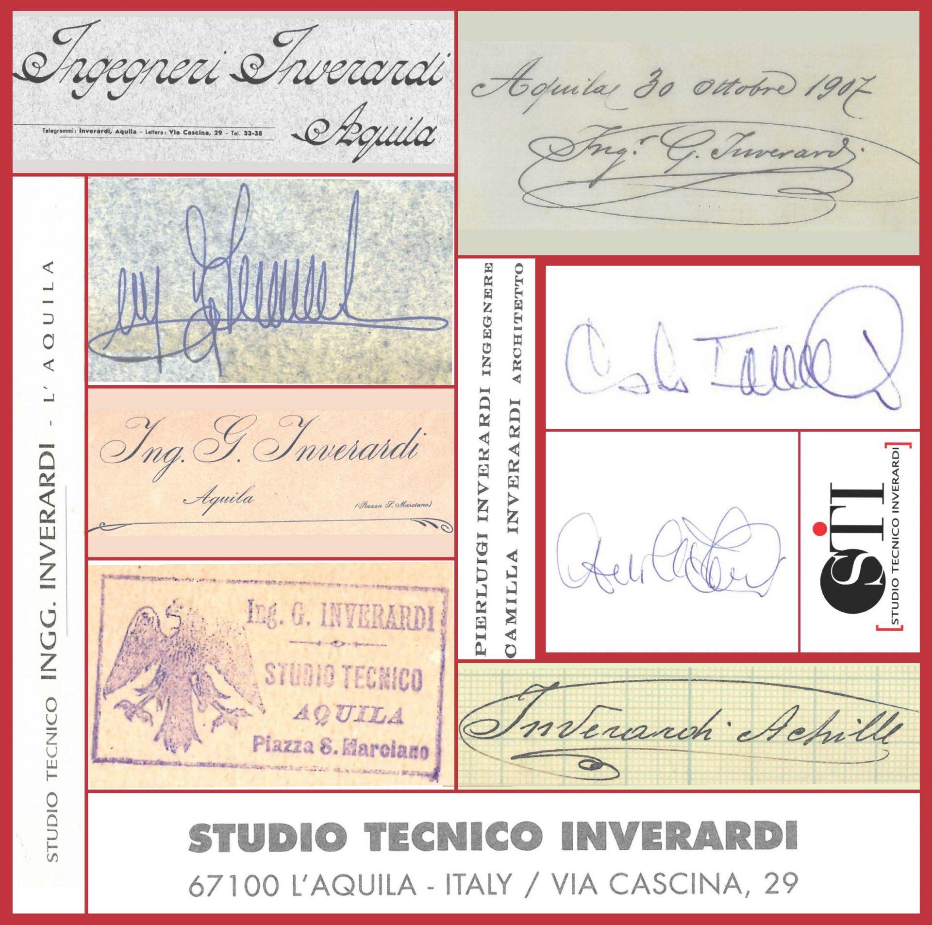 lo Studio Inverardi dal 1890 ad oggi, ininterrottamente presente in Abruzzo