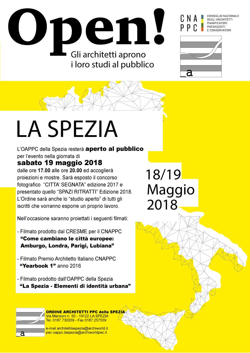 Manifesto evento ORDINE ARCHITETTI PPC LA SPEZIA