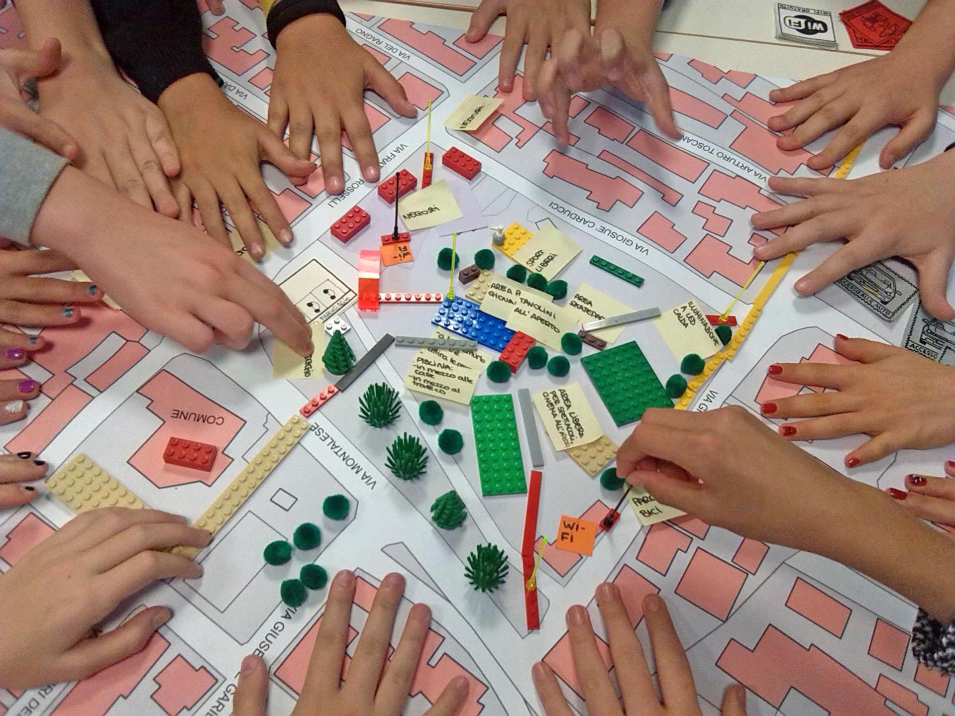 Fotografia di un'attività di co-progettazione