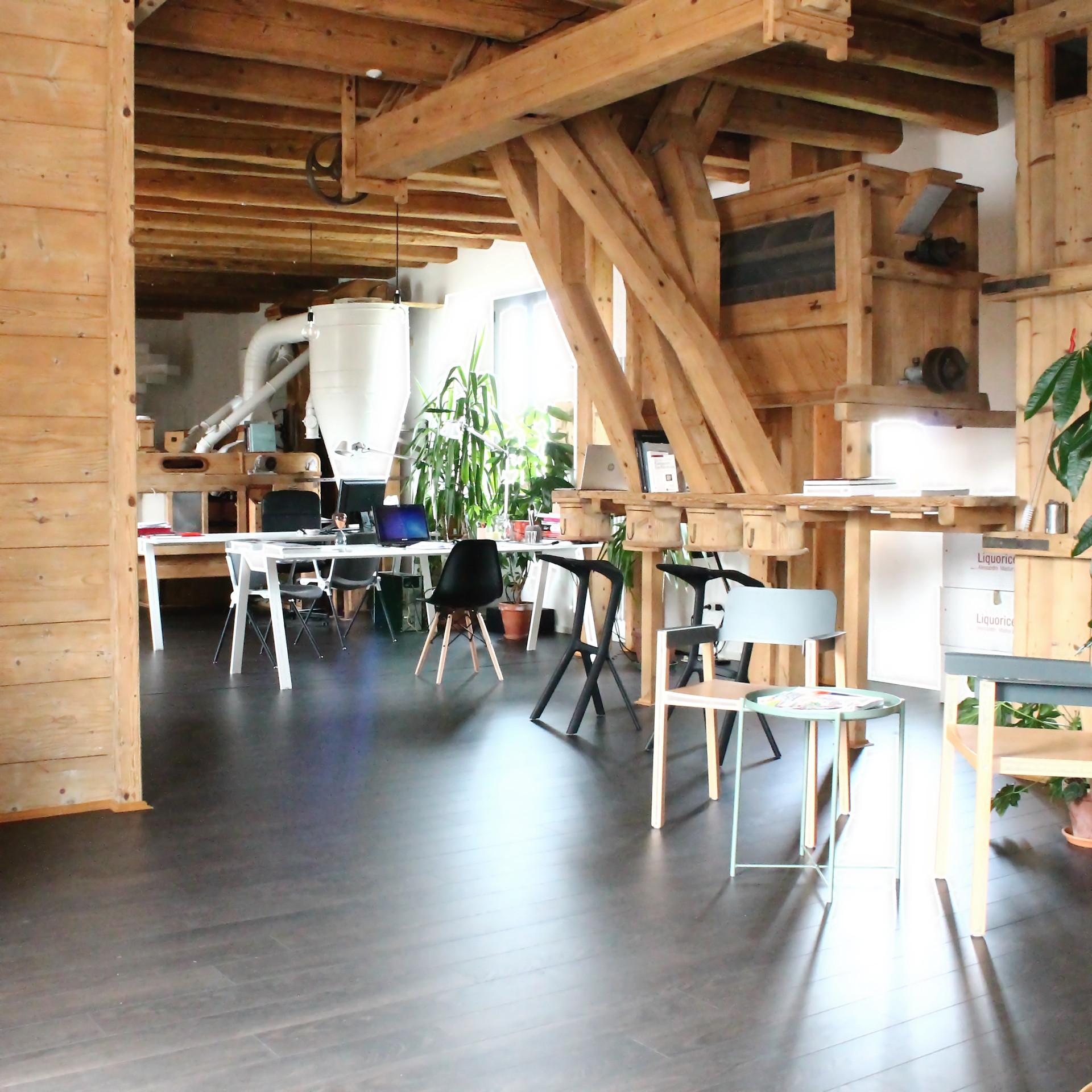 Fotografia dello studio presso il Mulino di Gruaro