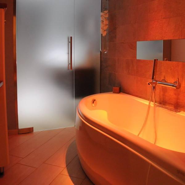 Fotografia di una sala da bagno
