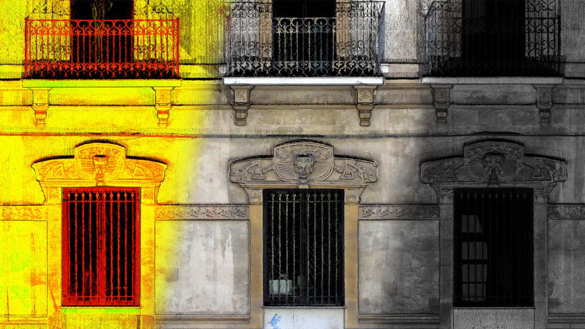 Particolare facciata palazzo Taranto