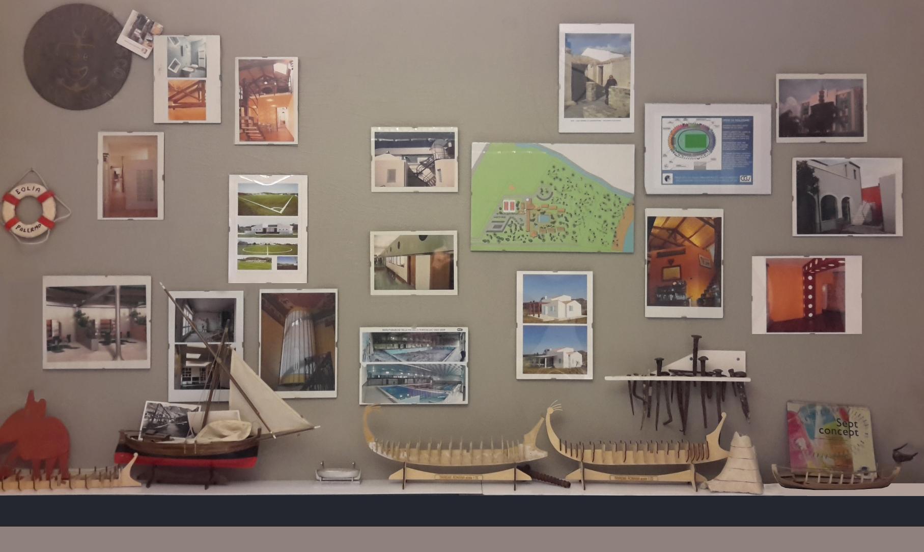 Fotografia della parete dello studio