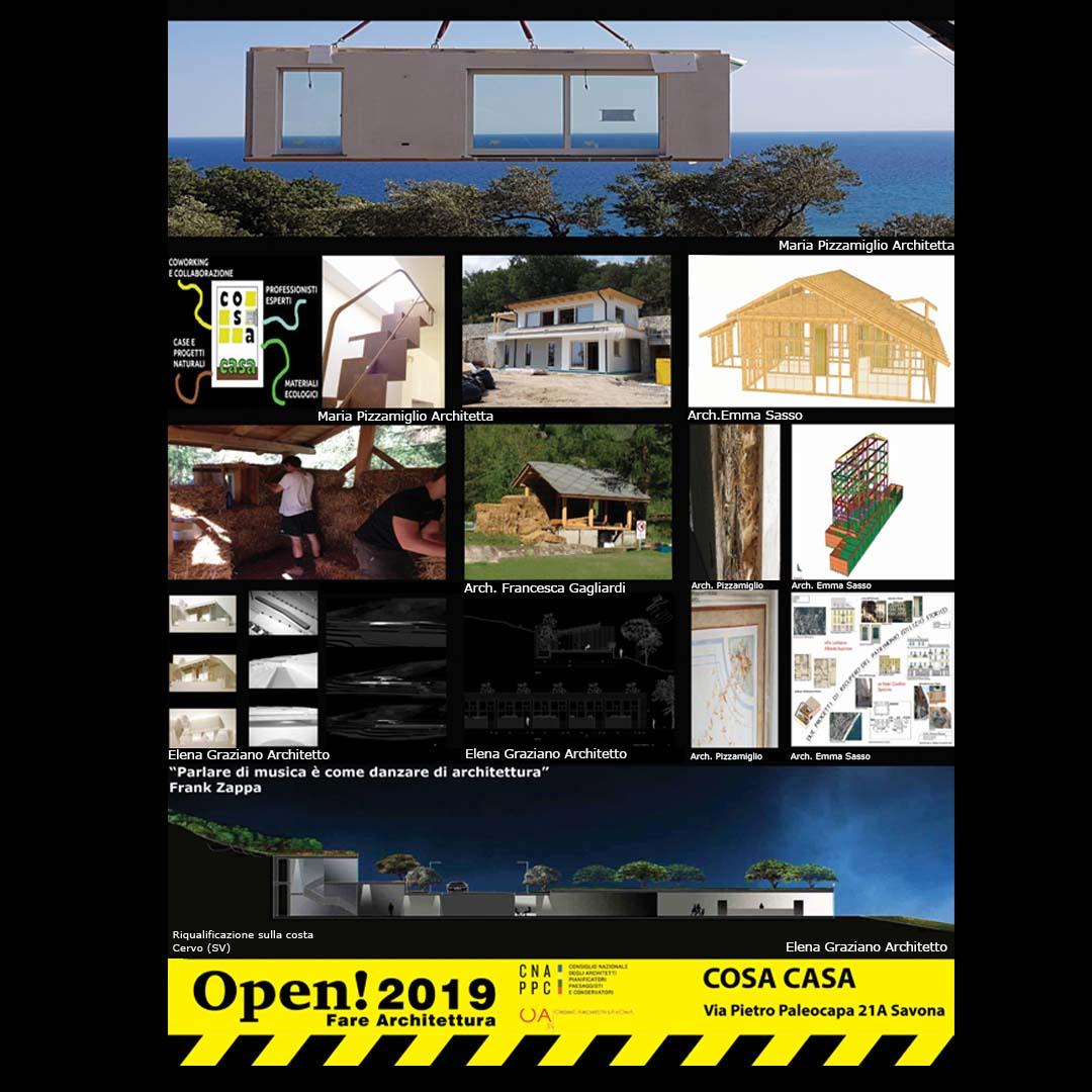 Progetti vari: parete e casa prefabbricata, casa di paglia, riqualificazione sulla costa.