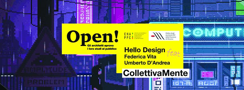locandina 2019 open studi aperti Hello Design Messina