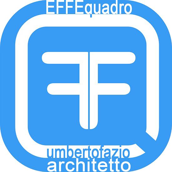 Logo del EFFEQuadro Studio Tecnico: Sfondo azzurro, cornice e doppia