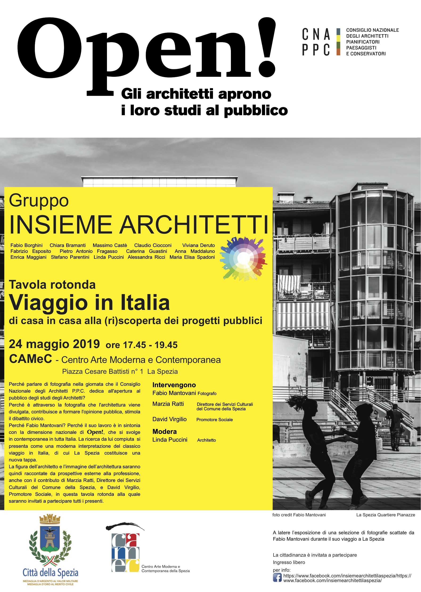 Locandina Tavola rotonda VIAGGIO IN ITALIA di casa in casa alla (ri)scoperta dei progetti