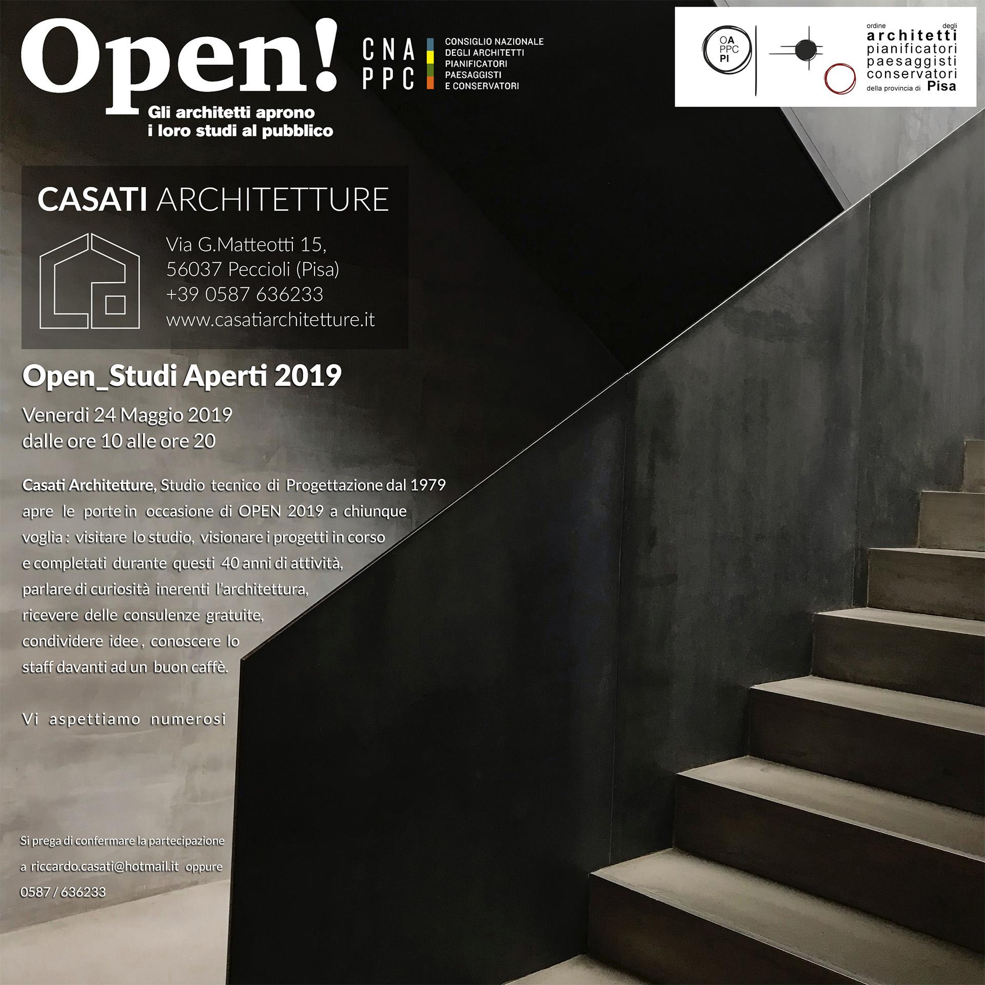Immagine evento OPEN 2019 - Studi Aperti _ Casati Architetture