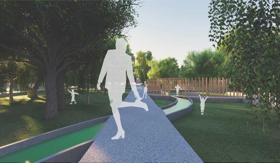 Progetto per il ripristino del parco delle terme