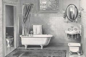 Bagno in casa epoca