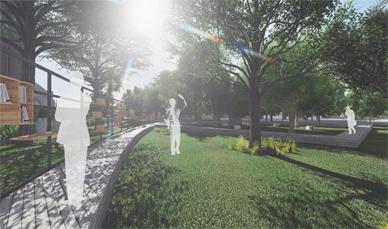 Ipotesi di progetto nell'area del parco delle terme di Sciacca