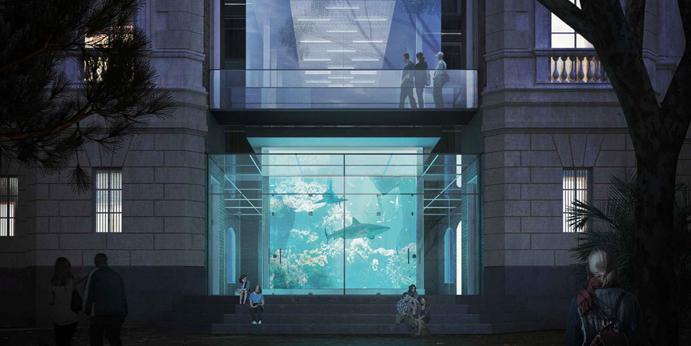 Rappresentazione grafica realistica di un progetto di architettura