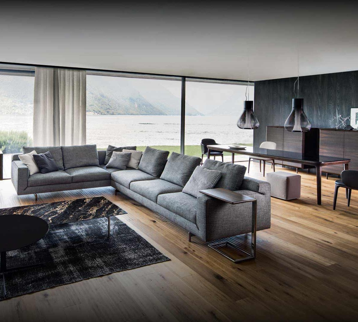 Fotografia di un soggiorno con salotto Busnelli