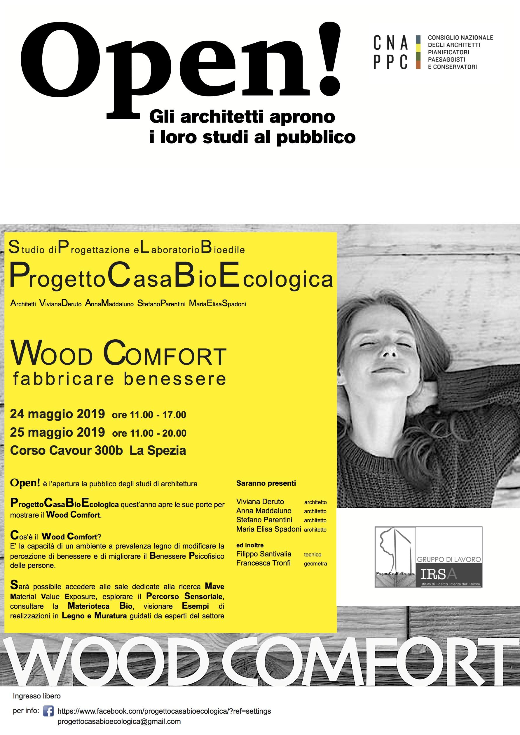 Locandina evento Wood Comfort
