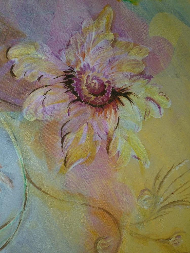 Olio su tela di Paola Bertolina - Fiore, simbolo dello studio -