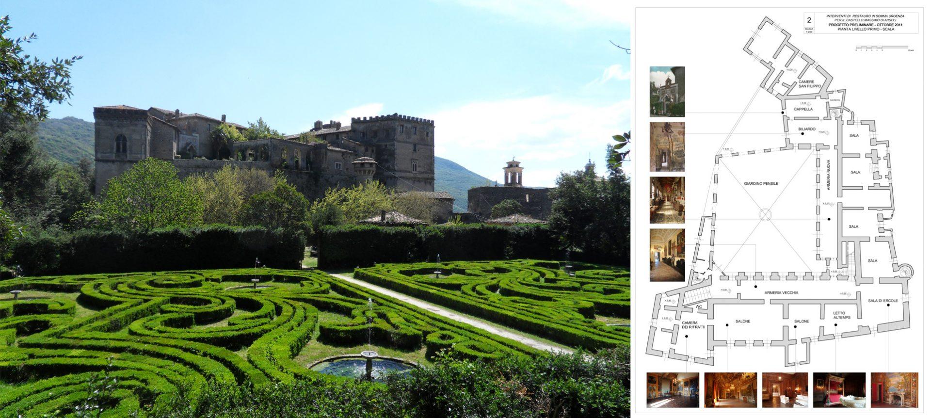 Restauro Castello Principi Massimo ad Arsoli