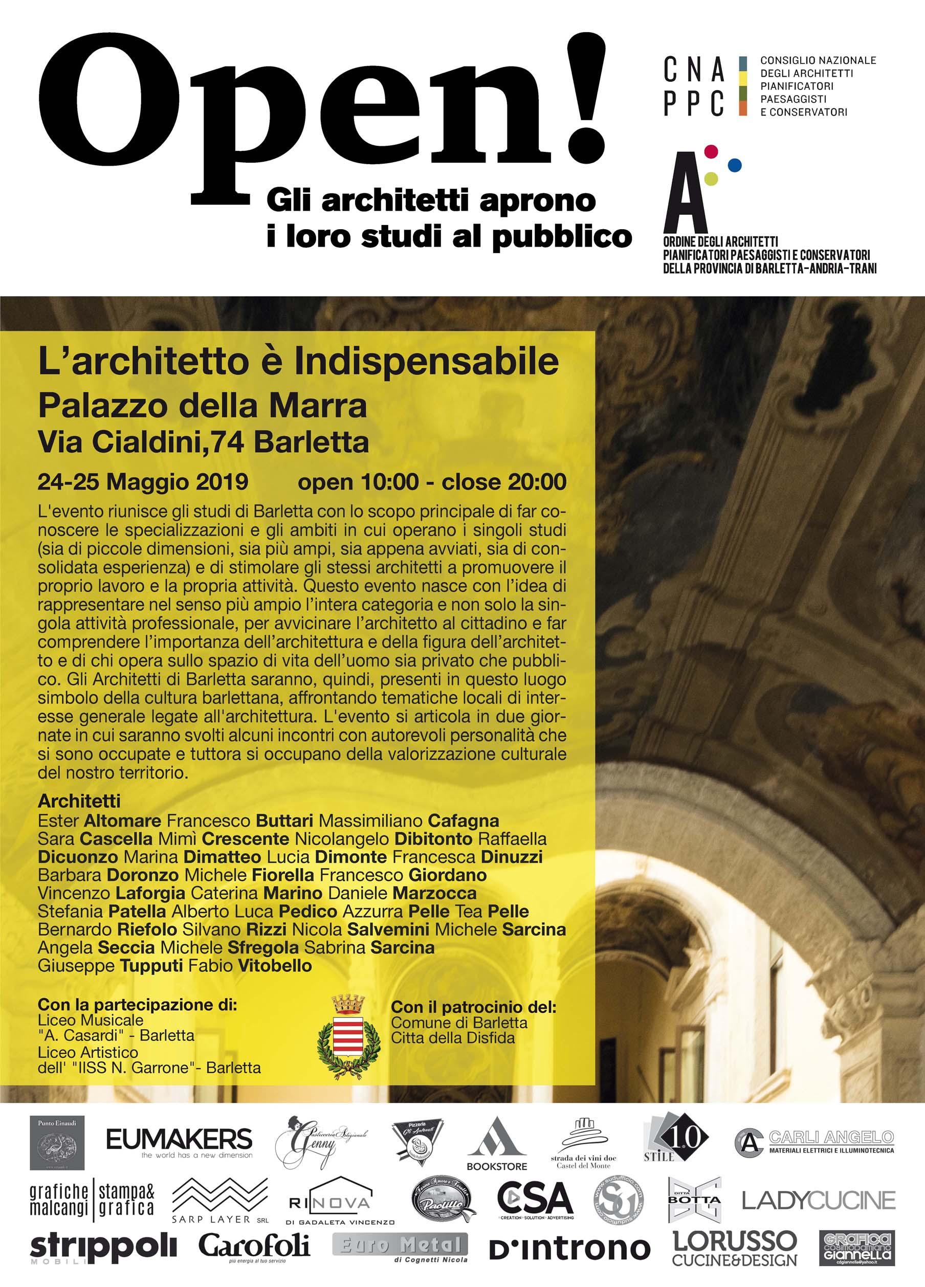 L'Architetto è indispensabile - incontri di architettura al Palazzo della Marra