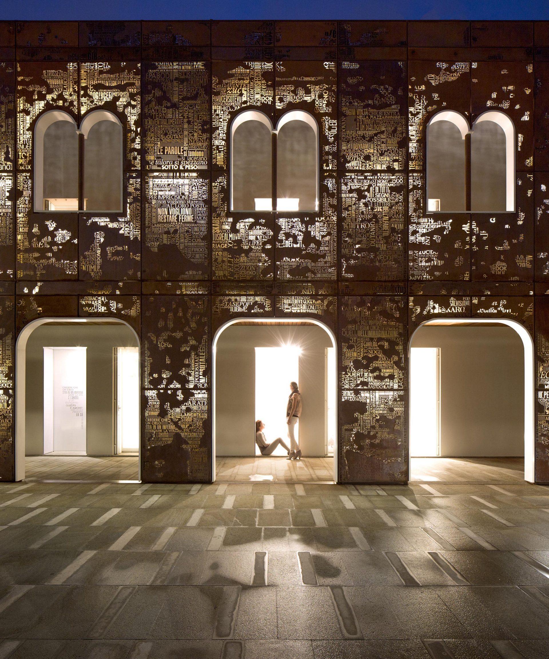 Il Palazzo di Vigonovo- facciata scultura in cor-ten