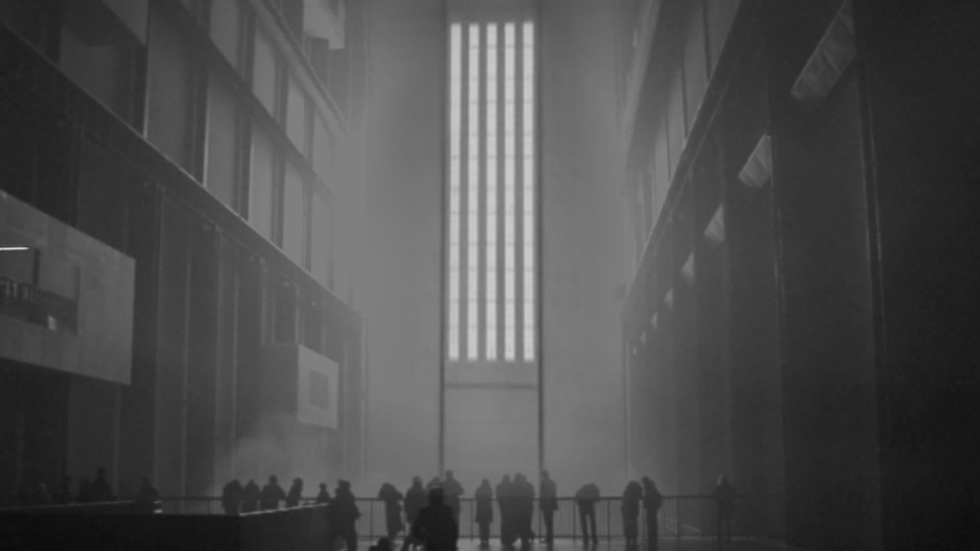 Fotografia di un interno del Tate Modern di Londra