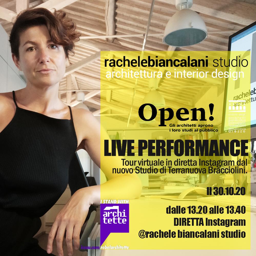 Evento di architettura in diretta sui social - foto di un'architetta nel suo studio